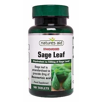 Natures Aid Sage Leaf 50mg (500mg equiv), 90 tablets. Suitable for Vegans.