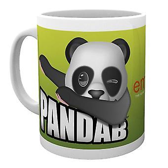 Emoji Tasse Pandab  weiß, bedruckt, aus Keramik, Fassungsvermögen ca. 320 ml.