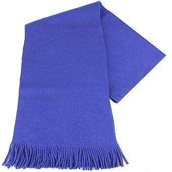 Bassin and Brown Hone Plain Wool Scarf - Blue