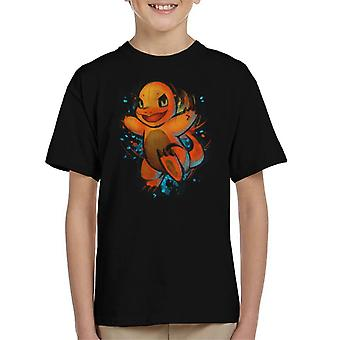 Pokemon Charmander Hand Drawn Art Kid's T-Shirt