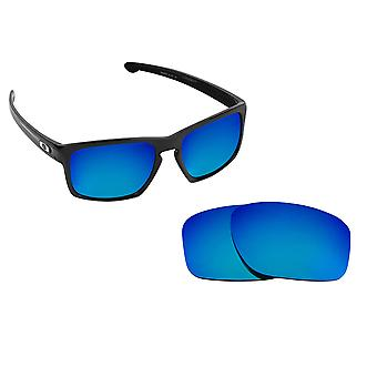 SLIVER Replacement Lenses Blue Mirror by SEEK fits OAKLEY Sunglasses