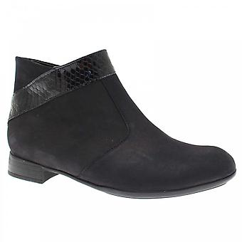 Waldläufer Women's Ankle Boot With Leather Trim