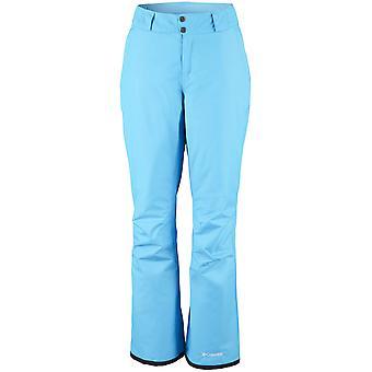 Columbia ladies ski pants on the slope.
