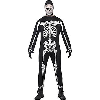 Skeleton Jumpsuit Costume, Chest 38