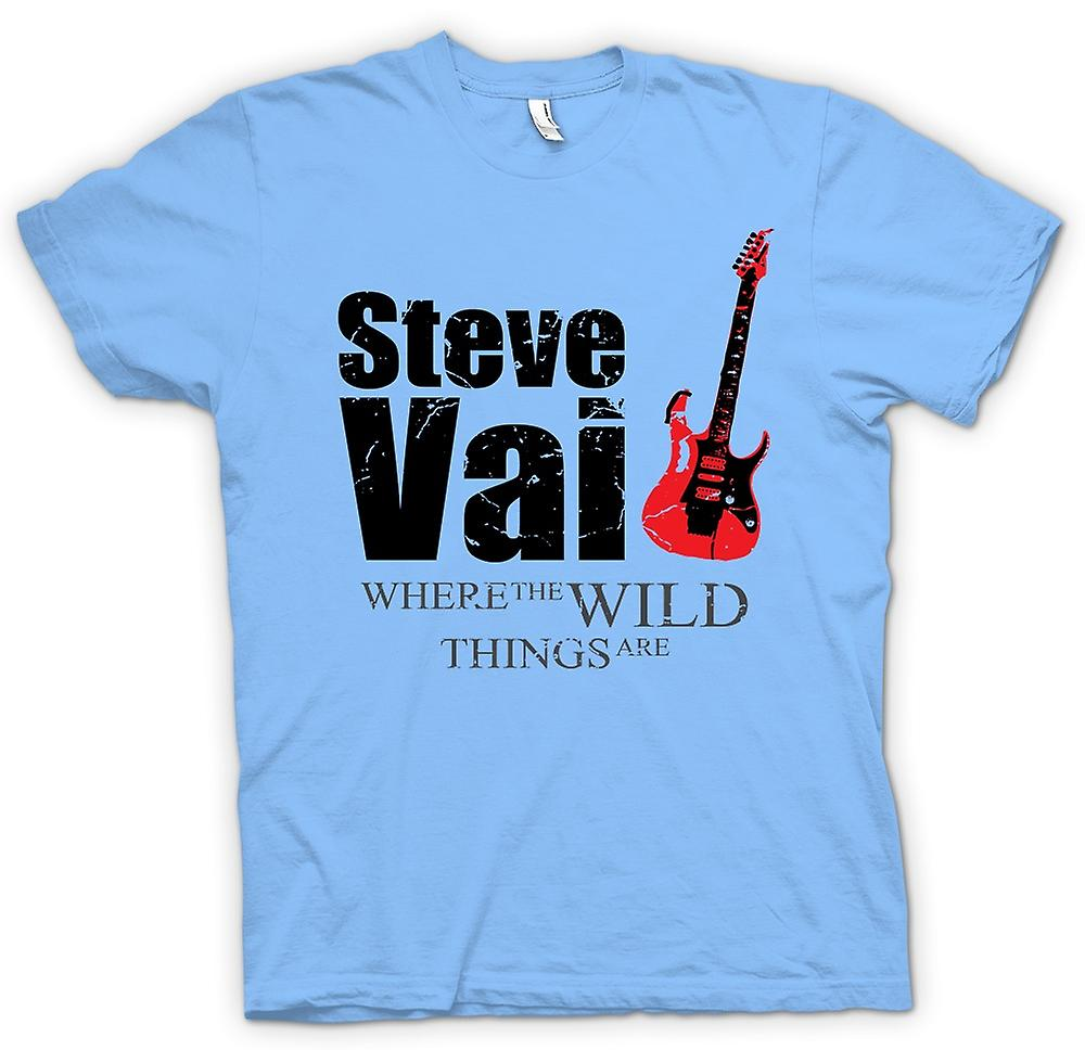 Mens T-shirt - Steve Vai Wild Things - Guitar Legend