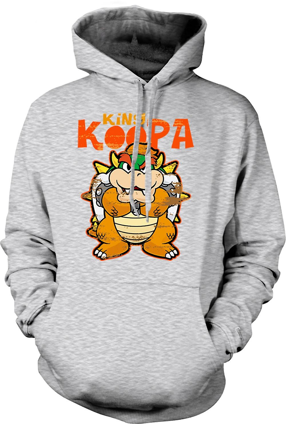 Mens hettegenser - King Koopa - Super Mario