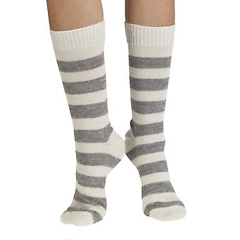 Alex warm Alpaca bed sock in grey | English made by J. Alex Swift