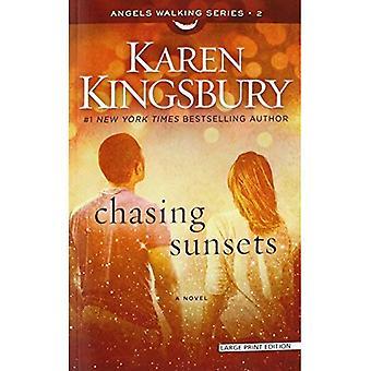 Chasing zonsondergangen (engelen)
