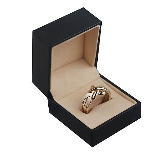 9ct Gold 4 piece Puzzle Ring Size Z