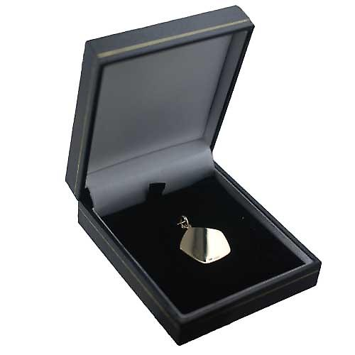 9ct Gold 21mm five sided Aries Zodiac