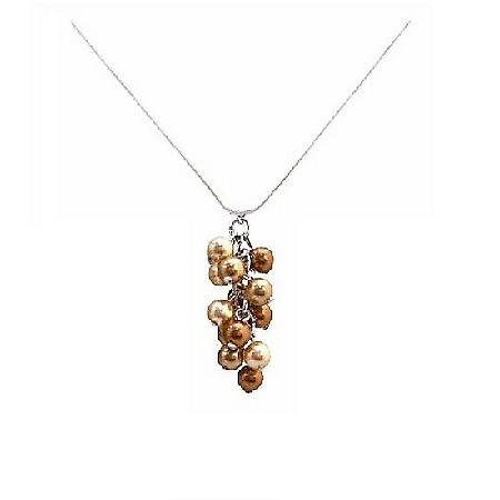 Copper & Golden Pearl Necklaces For The Best Price Swarovski Pearls Jewelry Affordable Bridemaids Gift