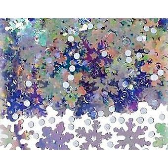 Bumper 71g Bag of Sparkly Snow Confetti Sequins   Fluffy Acrylic Pompoms