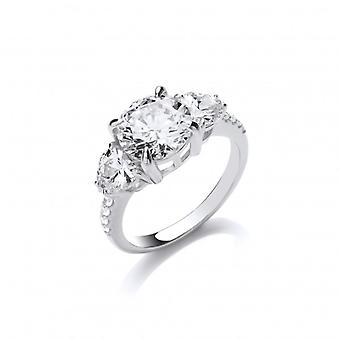 Cavendish French Silver and CZ Ascot Ring