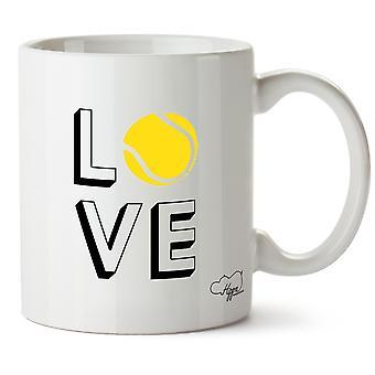 Hippowarehouse Love Tennis tryckt mugg kopp keramik 10oz