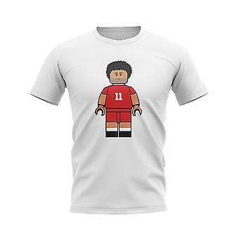 Mo Salah Liverpool Ziegel Fußballer T-Shirt (weiß)