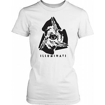Illuminati konspiration damer T Shirt