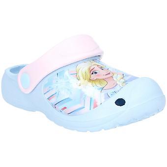 Leomil flickor frysta lätt halka på sommaren Clog sandaler