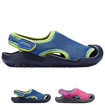 للجنسين الاطفال Crocs Swiftwater صندل شاطئ البحر المطاط أحذية خفيفة الوزن