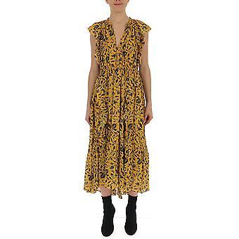 Ulla Johnson Yellow Silk Dress