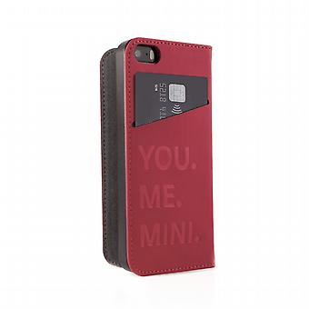 Funda Folio Logo metal Apple iPhone 5/5s Mini
