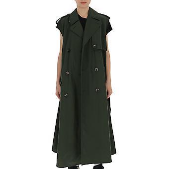 Bottega Veneta Green Cotton Trench Coat