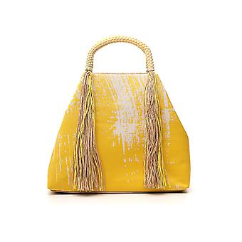 Issey Miyake Yellow Cotton Shoulder Bag