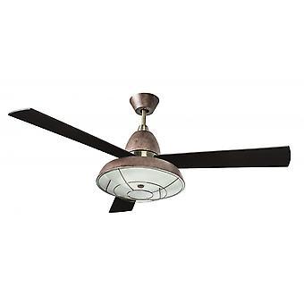 Vintage Brown, un ventilateur de plafond avec lumière 132cm/52