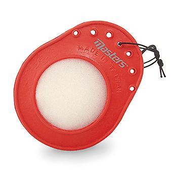 Golf Ball Cleaner und Golf Tee Halter Schwamm hängt an Ihrer Golftasche
