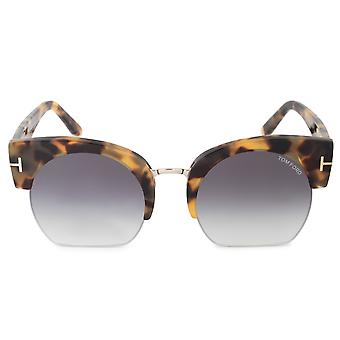 Tom Ford Savannah-02 FT0552 56B 55 Halbrimless Sonnenbrille