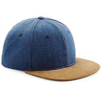 Beechfield - Suede Peak Snapback Cap Hat