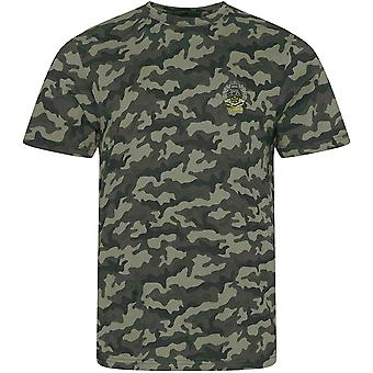 Royal Hamphire Regiment Veteran - Licensed British Army Embroidered Camouflage Print T-Shirt