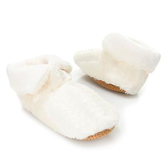 North Shore Living Booties w/ Faux Fur Trim Ivory Womens G413100