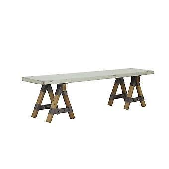 Licht & levende Bench 170 X 38 X 45 Cm Guarami zink Look