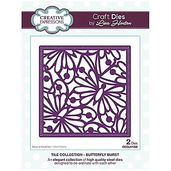 Creative Expressions Die Set Butterfly Burst by Lisa Horton Set of 2 | Tile Collection