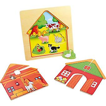 Legler Layered puzzle  Barn