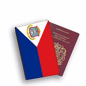SINT MAARTEN Flag Passport Holder Style Case Cover Protective Wallet Flags design