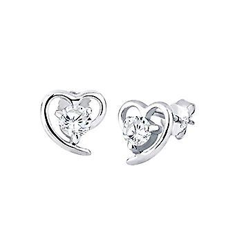 Elli Earrings women's lobe in Silver 925 with Cubic Zirconia 03200527
