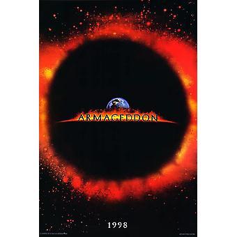 Armageddon (kaksipuolinen ennakko) alkuperäinen elokuva juliste