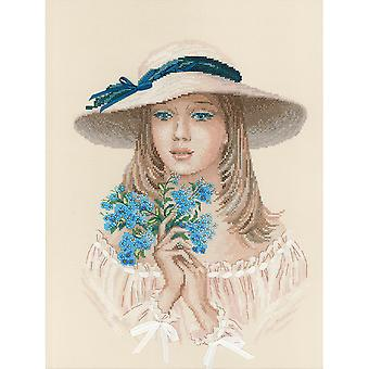 Forget Me Not Counted Cross Stitch Kit-11.75
