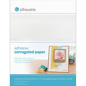 Silhouette Adhesive Back Corrugated Paper 8.5