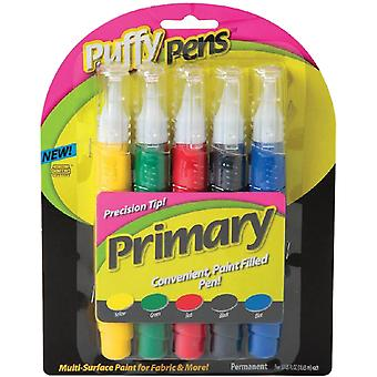 Puffy Paint Pen Set 5 Pkg Primary 26196