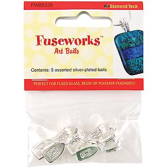 Fuseworks Art Bails 5Pc Silver Fw85335
