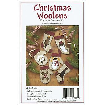 Christmas Woolens Ornament Kit Set Of Six K0803