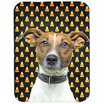 Candy Corn Halloween Jack Russell Terrier Mouse Pad, Hot Pad or Trivet KJ1211MP