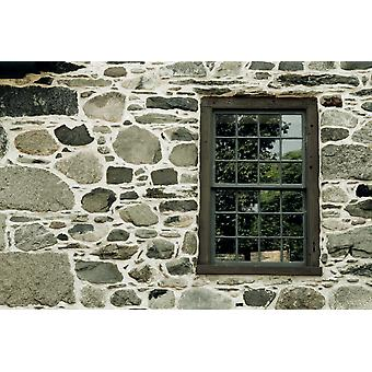 Stone Wall With A Window PosterPrint