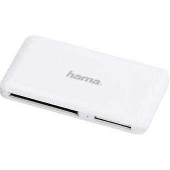 External memory card reader USB 3.0 Hama White