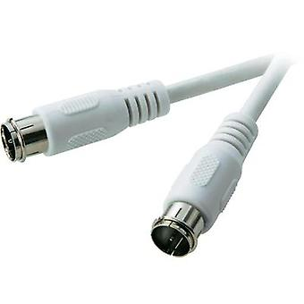 SAT Cable [1x F quick connector - 1x F quick connector] 10 m 75 dB White SpeaKa Professional