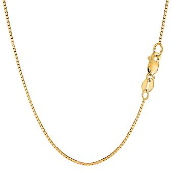 14k Yellow Gold Classic Mirror Box Chain Necklace, 1.0mm
