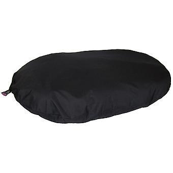 Country Dog Heavy Duty Waterproof Oval Cushion Black 95x70x15cm