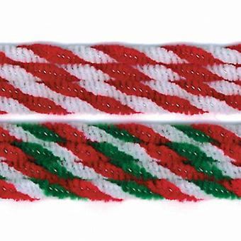 40 Christmas Candy Cane Twist Assorted Pipe Cleaners | Chenille Stems
